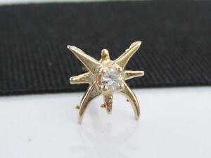 b4c385d398a4 Antique Vintage Art Deco era 14K Gold & Diamond Tie Tack Pin ...