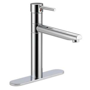 Details about Delta 1158LF Trinsic Single-Handle Standard Kitchen Sink  Faucet, Polished Chrome