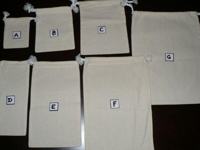 Calico bags with Drawstring ( bulk)  5,10,15, 20 ,25,30 ,50 100