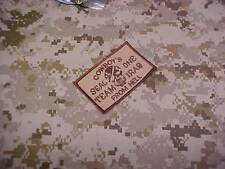 """SEAL TEAM ONE """" COWBOYS FROM HELL """" DESERT TAN AOR1 PATCH"""