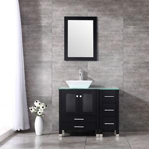 Image Is Loading 36 Modern Bathroom Vanity Cabinet Ceramic Vessel Sink