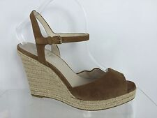 Michael Kors Womens Brown Leather Wedges 9.5 M