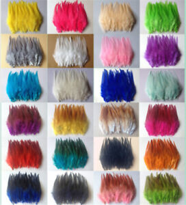 Wholesale-50-100pcs-beautiful-rooster-tail-feathers-10-15cm-4-6inches-31-Colors