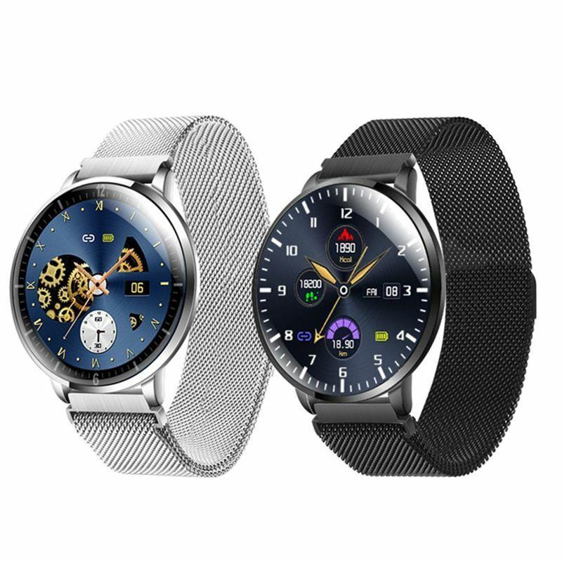 Smart Watch Round Screen Fitness Tracker Heart Rate Monitor Ip68 Waterproof
