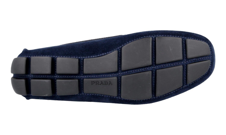 AUTH LUXURY LUXURY LUXURY PRADA SLIPPER SHOES 2DD116 BLUE SUEDE NEW US 10.5 EU 43,5 44 ab423d