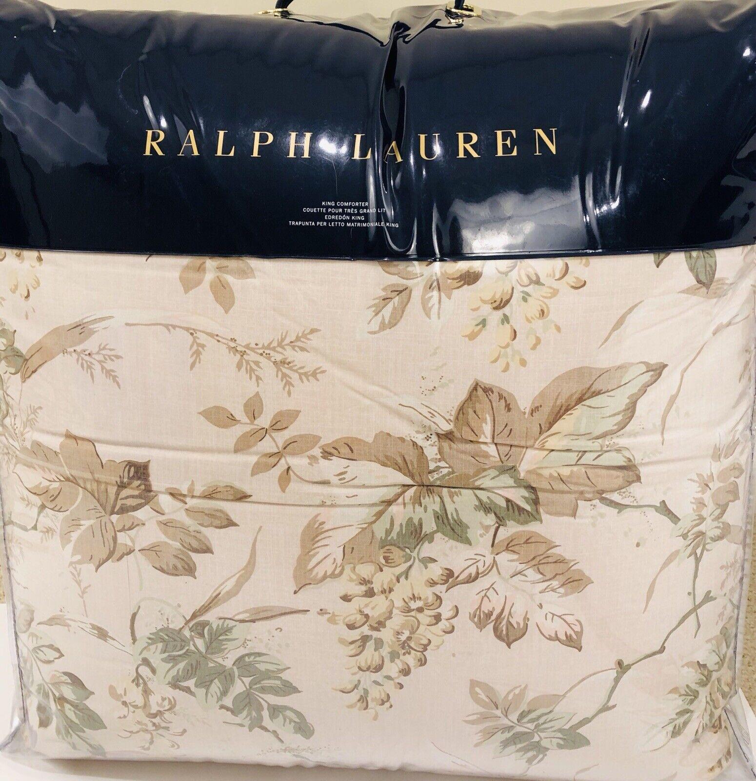 RALPH LAUREN Annandale König Comforter LINDSLEY Blaush FLORAL Cotton MSRP  430 NWT