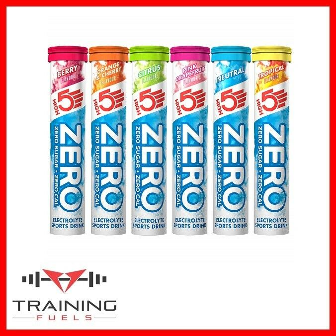 High5 Zero tubes Hydration 4 or 8 x 20 tablets Electrolyte  Hydration tubes Drink 270c3f