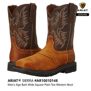 1629521f0989 ARIAT SIERRA Men s Wide Square Plain Toe Western Cowboy Work Boots ...