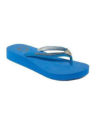 NIB G by Guess Adored Chain Chain Adored Flip Flops Thongs Sandals Black White Blue 7 8 9 10 16485a