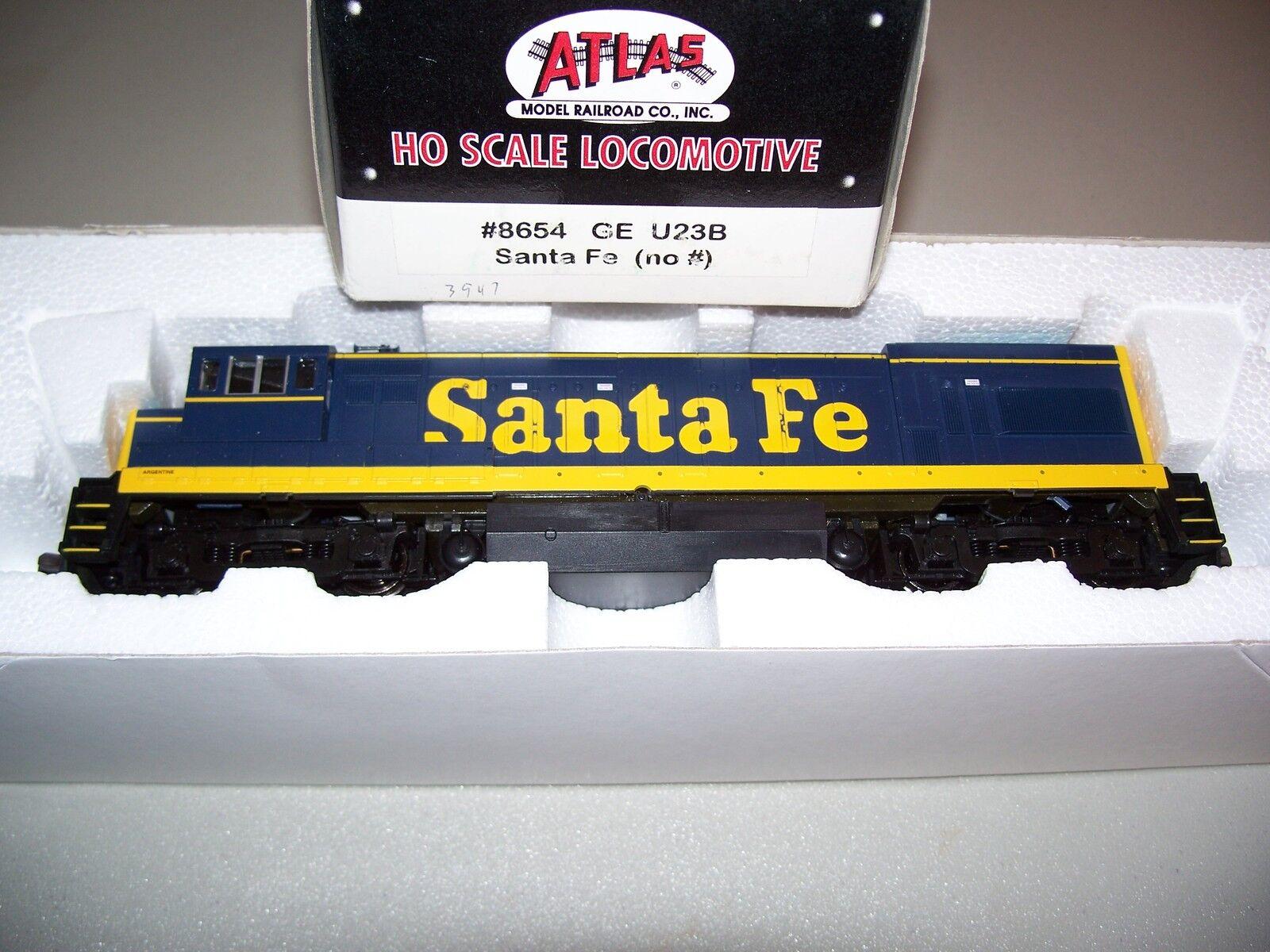 Atlas HO Scale GE U23B Santa Fe no road