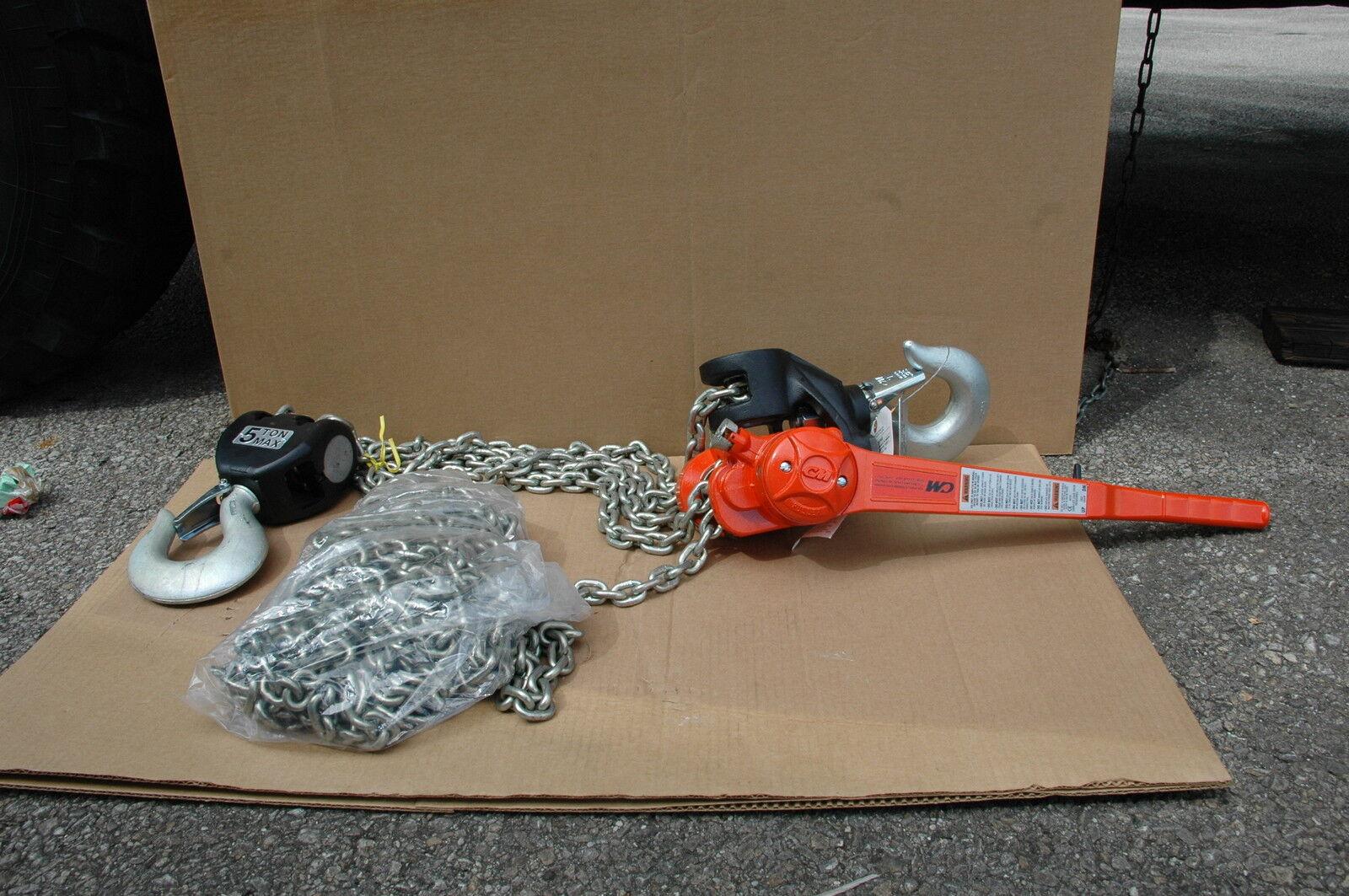 Chain Hoist Hand Lever CM Corp. 10,000lb. cap. PN B7483UV