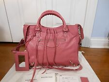 NEW Auth Balenciaga Giant 12 Nickel City Velo Leather AJ Shoulder Bag Tote, Rose