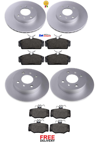 FOR NISSAN ALMERA N16 FRONT /& REAR BRAKE DISCS /& PADS SET *NEW* 2000-2006