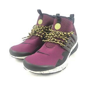 b30d3571dd56 Nike Air Presto Mid Utility Bordeaux Black Gray Shoes 859524 600 ...