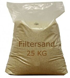 25 kg quarzsand f r filteranlage filtersand sandfilteranlage poolsand pool ebay. Black Bedroom Furniture Sets. Home Design Ideas
