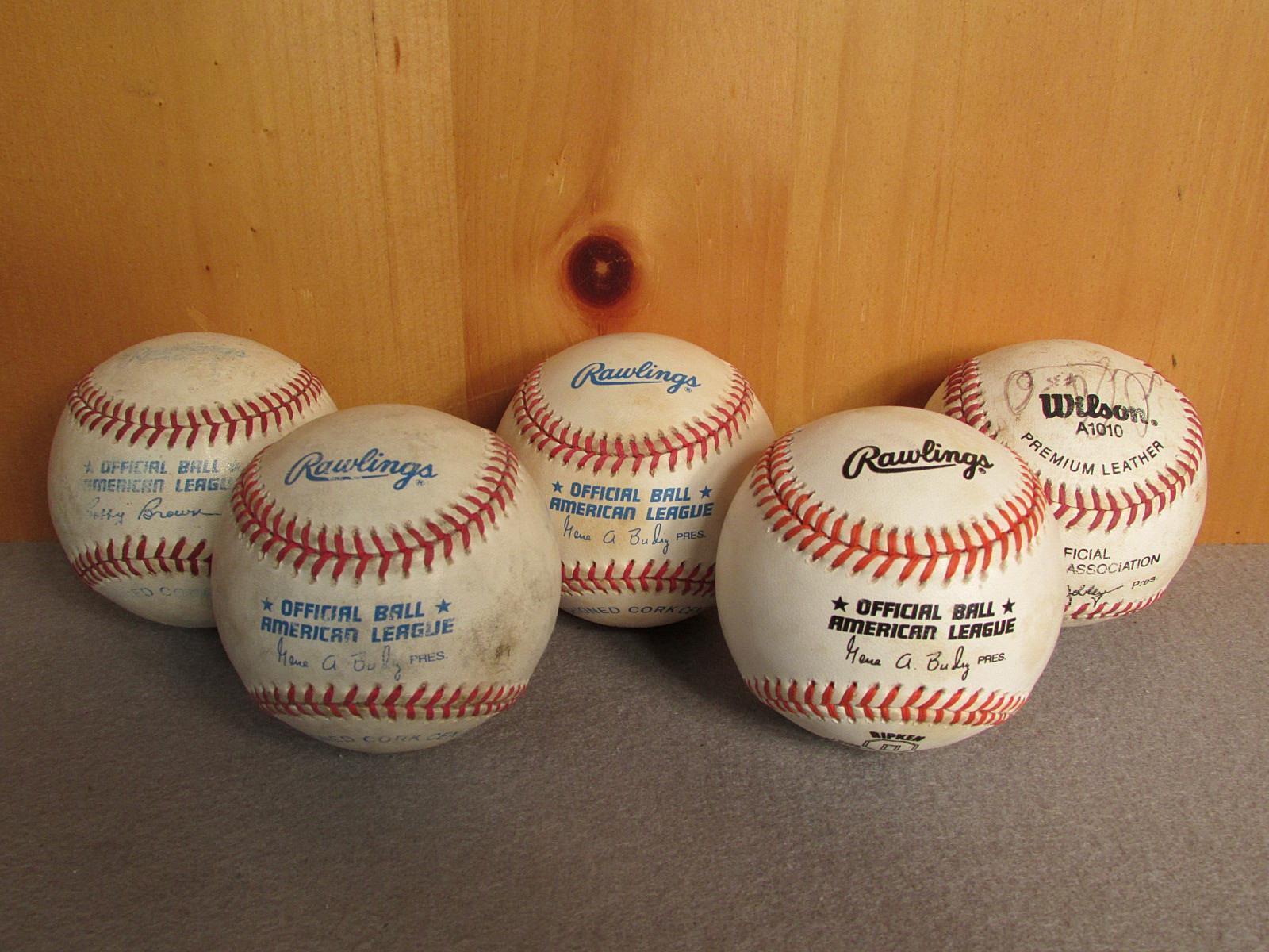 Grupo Vintage de 5 oficial Rawlings & Wilson American Liga pelotas de béisbol Ripken