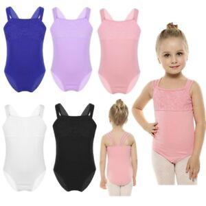 3c05a8ede7d3 Girl Kid Ballet Dance Gymnastics Unitard Dancewear Leotards Bodysuit ...