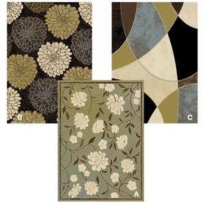 Transitional Floral Area Rug 8x11 Modern Geometric Carpet