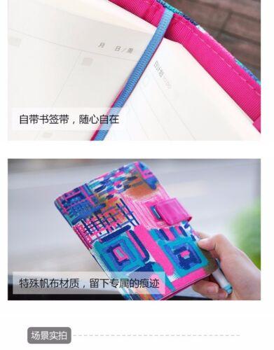 A6 Notebook Monet Canvas Traveler/'s Notebook Magnet Button 2019 Planner