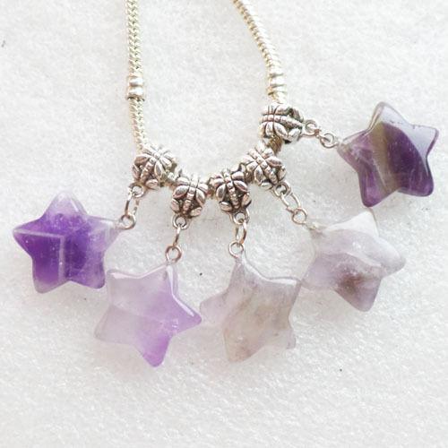 5 mixto de piedras preciosas Estrella Colgante Fit europeo pulsera collar p.l.