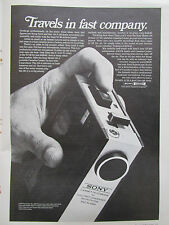 5/1972 PUB SONY MODEL 410 DELUXE AC/DC PORTABLE CASSETTE CORDER ORIGINAL AD