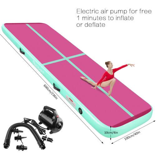 3M 4M 5M 6M 10//20cm Air Track Gymnastikmatte Aufblasbare Tumbling Turnmatte+Pump