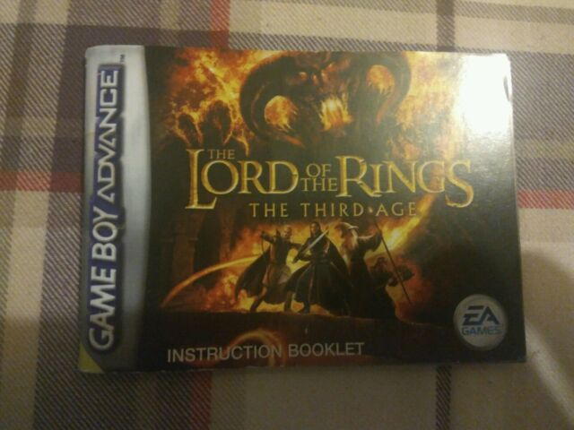 The Lord of the Rings: The Third Age (Nintendo Gameboy Advance 2004) Manual Only