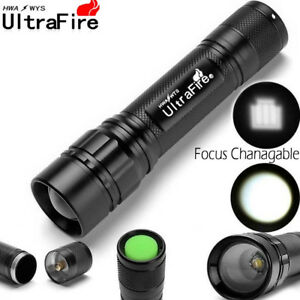 50000LM Zoomable Flashlight Durable Focus 3Modes T6 LED 18650 Torch Lamp Charger