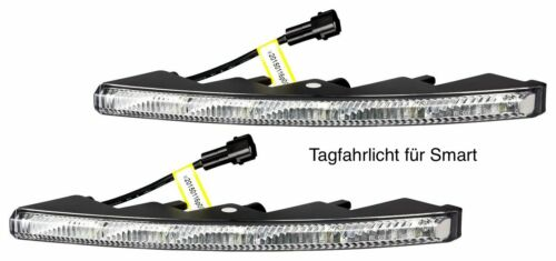 LED Tagfahrlicht Ultra Small Design Riffelglas 12V 10 x SMD LEDs für Smart TFL9