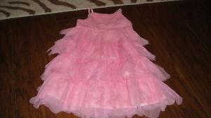 BOUTIQUE KATE MACK 2T PINK RHUMBA DRESS W// FLOWERS