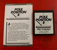ATARI 7800 POLE POSITION II 7808 VIDEO SUPER GAME CARTRIDGE & BOOKLET