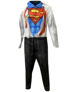 Briefly-Stated-Superman-Complete-Costume-Pajamas-Mens-Medium