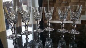 6 Stuart hand cut Crystal Sherry Lunettes. 1094 #15-afficher le titre d`origine 1UoqSL1F-09161104-426793627