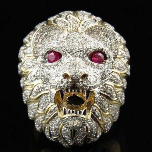 COOL Men/'s Acier Inoxydable Gothique Punk Skull Head Boy Biker Finger Ring Jewelry