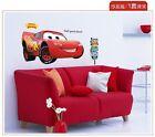Large Disney Cartoon Lightning McQueen Cars Art Wall Stickers Boy Bedroom Room