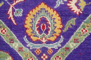 Art-amp-Craft-VIBRANT-PURPLE-Super-Kazak-Area-Rug-Hand-Knotted-Oriental-Wool-6-039-x8-039