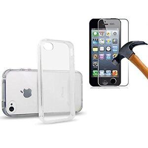 Pour-Iphone-4-4S-5-5S-5C-6-6Plus-Coque-Rigide-Dur-Transparent-1-verre-trempe