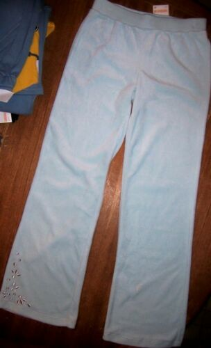 Blue Velour Pants Set 2pc White Top Gymboree School Girl size 3 years New