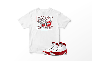 Fast-Money-Graphic-T-Shirt-To-Match-Air-Jordan-Retro-9-Red-All-Sizes