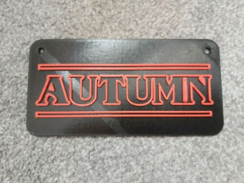 Des choses bizarres Style Nom Personnalisé Plaque Murale Suspension Porte Signe 3D Imprimé