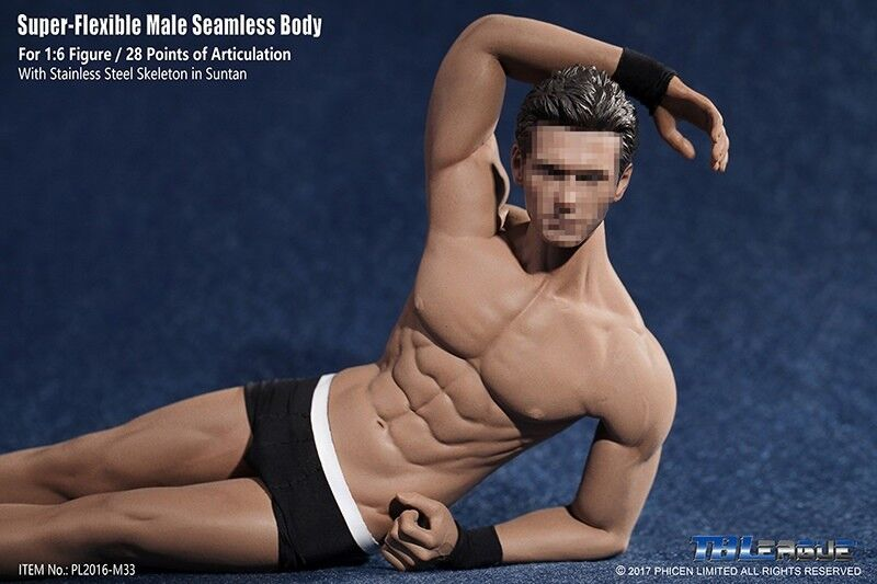 PHICEN TBLeague 1 6 Steel Skeleton Male Muscular Muscular Muscular Seamless Figure Body ❶USA❶ c92199