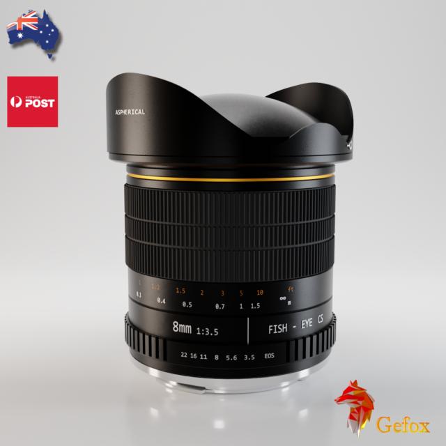 8mm f/3.5 Super Wide Fisheye Lens Camera Lens for Canon