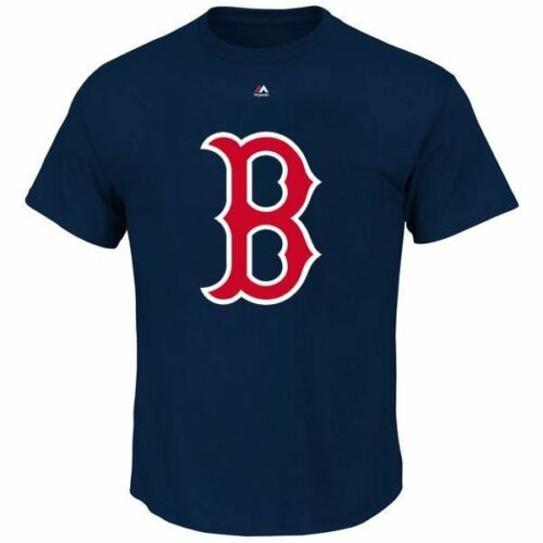 Boston Red Sox T-Shirt Men/'s Official Logo Majestic MLB Navy