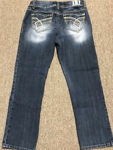 HYDRAULIC-CAPRI-CROPPED-JEANS-SIZE-10-MEDIUM-WASH-MID-RISE-PREOWNED