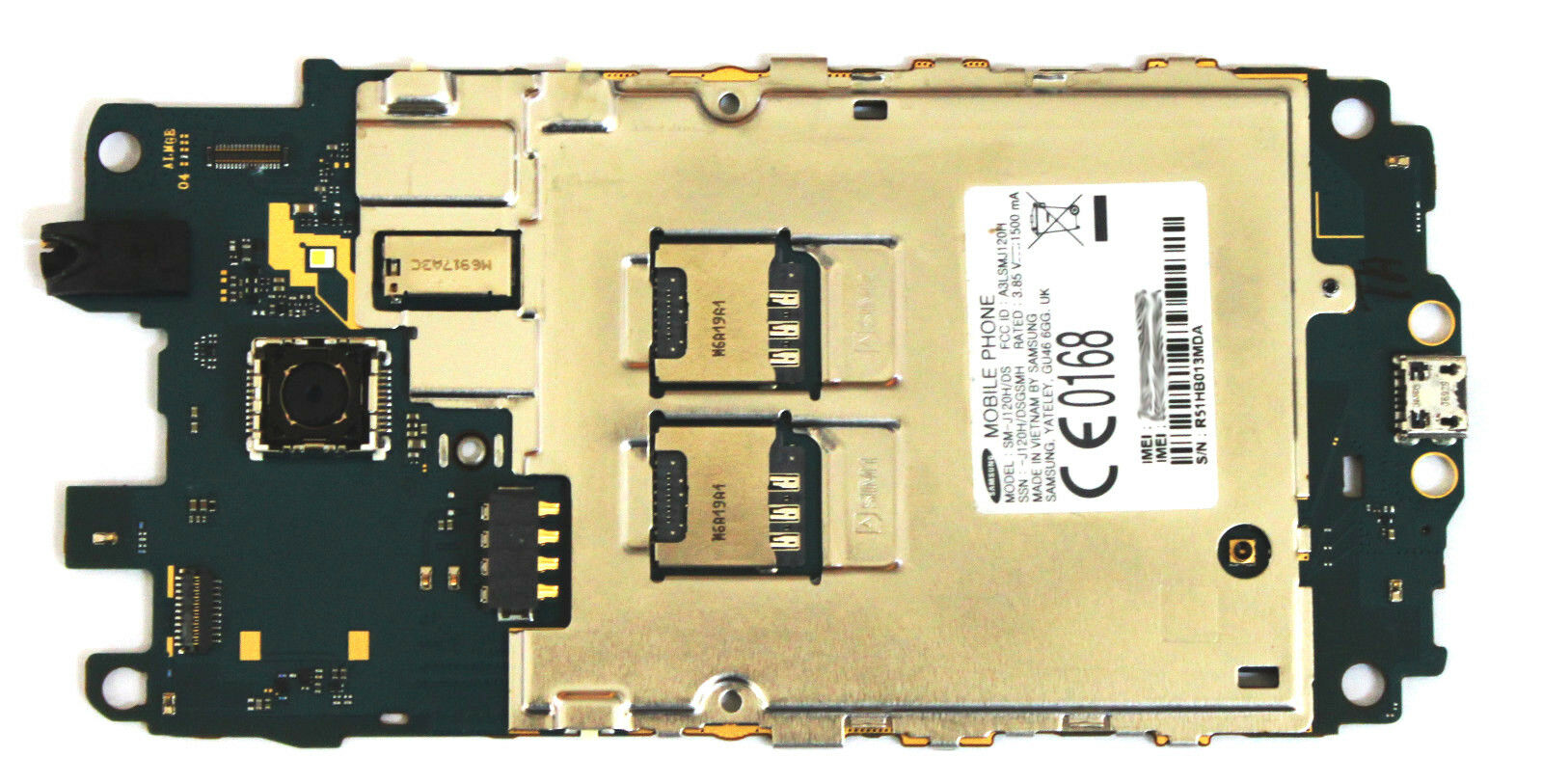 OEM UNLOCKED SAMSUNG GALAXY J1 2016 DUOS SM-J120H/DS 8GB LOGIC MOTHERBOARD