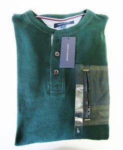 Tommy-Hilfiger-Neu-mit-Tags-Herren-Sweatshirt-Gruen-L-USA-Gr-54-56