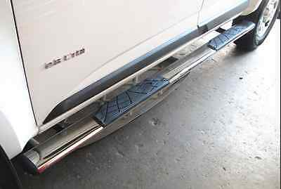 4.5' Oval Stainless Steel Side Step Holden Colorado Dual Cab / D-Max 2012-2017