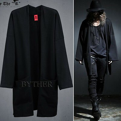 ByTheR Men's Fashion Japanese Tradition Loose Over Fit Comfy Kimono Cardigan UK