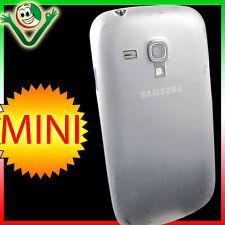 2x Pellicola+custodia 0,3mm ultra sottile Bianca p Samsung Galaxy S3 Mini i8190
