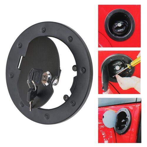 Fit 07-17 Jeep Wrangler 2//4 Door Locking Fuel Tank Gas Cover Housing Aluminum